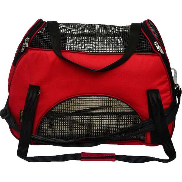 Bolsa de Transporte em Nylon para Cães e Gatos Atenas nº 2 Vermelha - São Pet