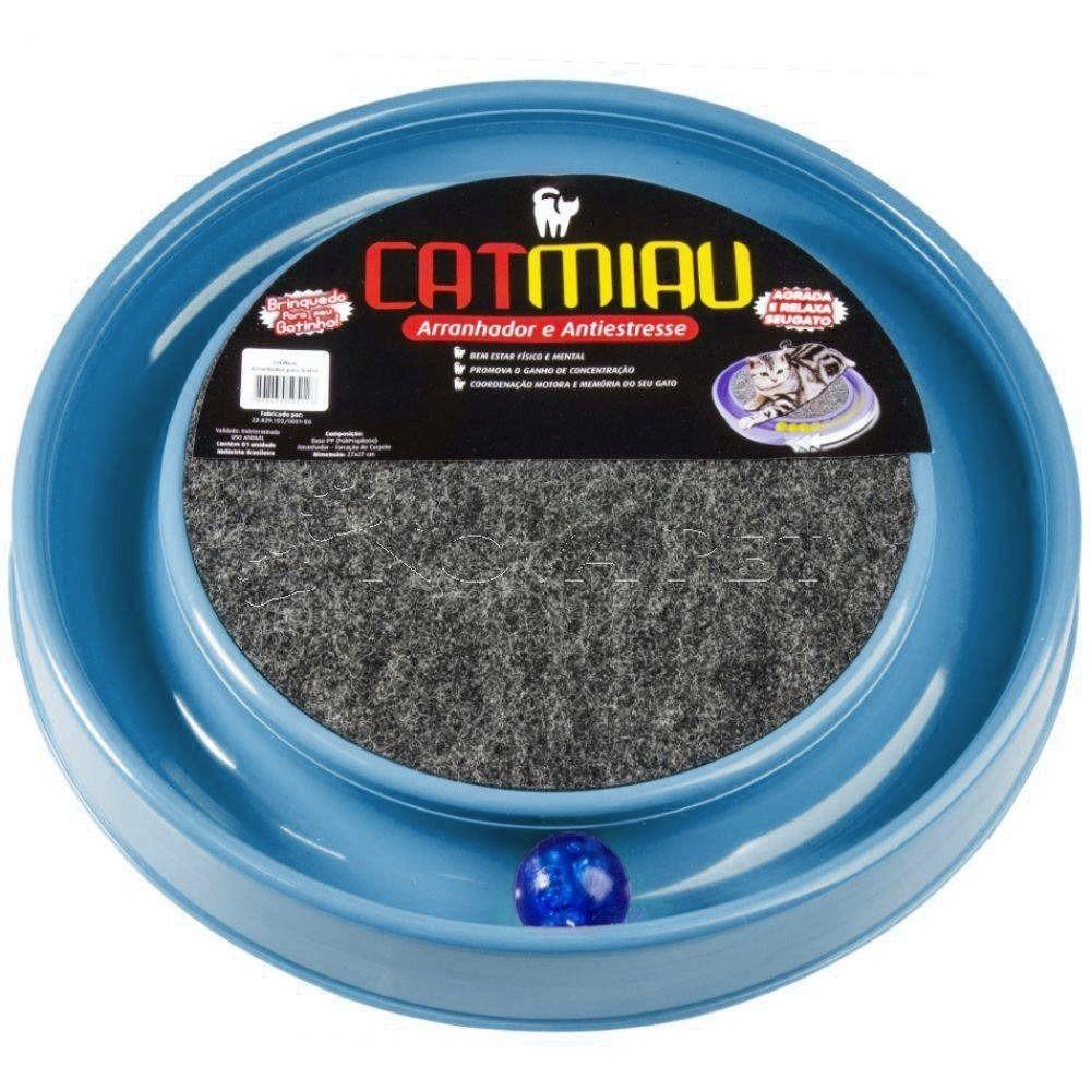 Brinquedo para Gato Cat Miau Bolinha e Arranhador Azul  - São Pet