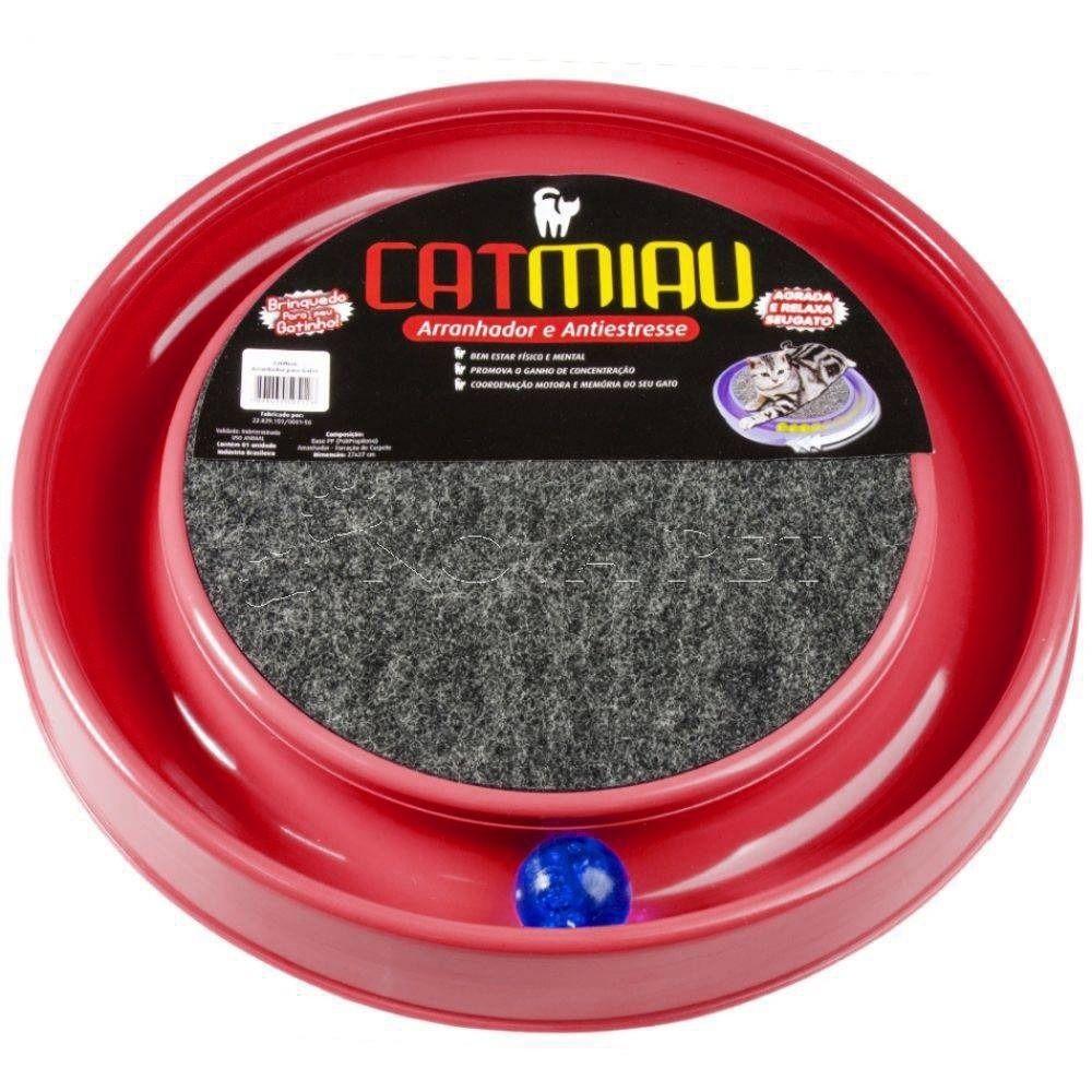 Brinquedo para Gato Cat Miau Bolinha e Arranhador  Vermelho - São Pet