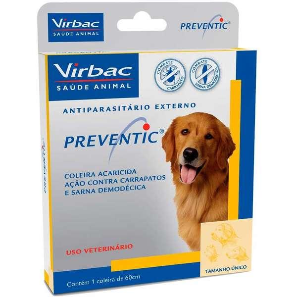 Coleira Anti Carrapatos E Sarna Preventic - Virbac (Validade Fev/2020)