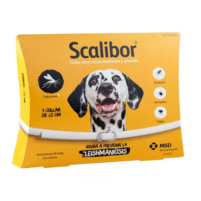 Coleira Antiparasitária para Cães de Grande Porte Scalibor 25g - MSD Saúde Animal - (Validade Fevereiro/2021)