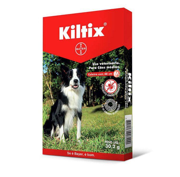 Coleira Antipulgas e Carrapatos Kiltix para Cães Médios 48cm M (30,2g) - Bayer