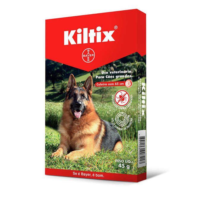 Coleira Antipulgas e Carrapatos Kiltix para Cães Grandes 65cm G (45g) - Bayer