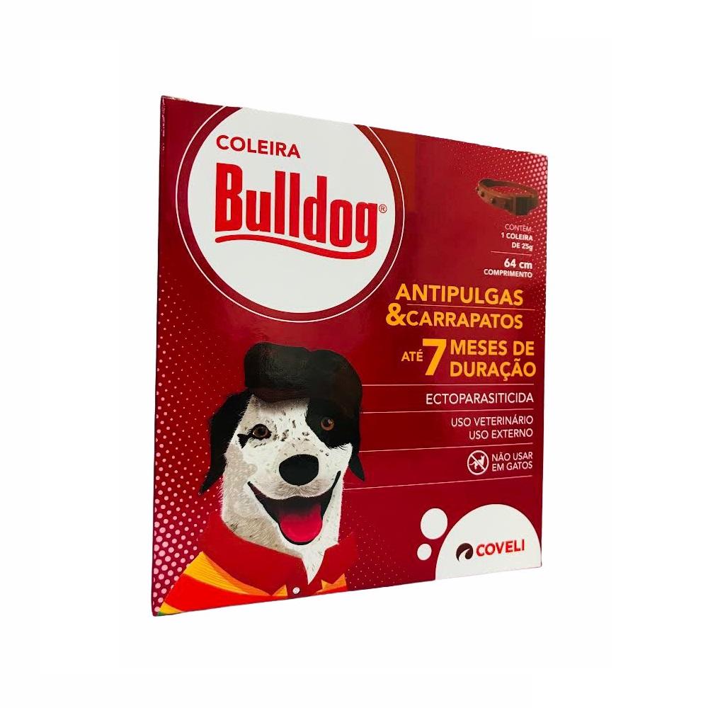 Coleira Antipulgas e Carrapatos para Cães Bulldog 64cm / 25g - Coveli