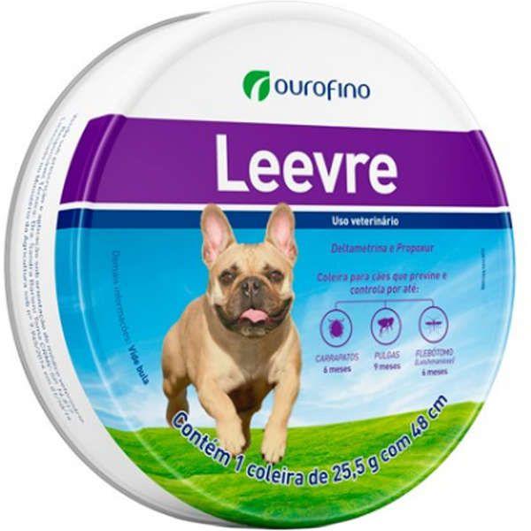 Coleira Antipulgas e Carrapatos para Cães Leevre 48cm - Ourofino  (Validade Agosto/2021)
