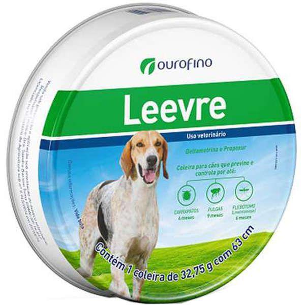 Coleira Antipulgas e Carrapatos para Cães Leevre 63cm (32,75g) - Ourofino