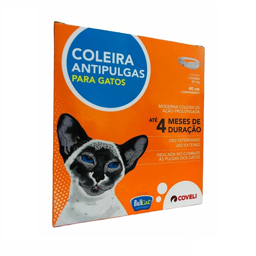 Coleira Bullcat Antipulgas e Carrapatos para Gatos 40cm / 15g - Coveli