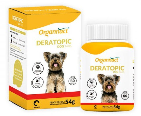 Deratopic Dog Tabs 54g (60 Tabletes) - Organnact