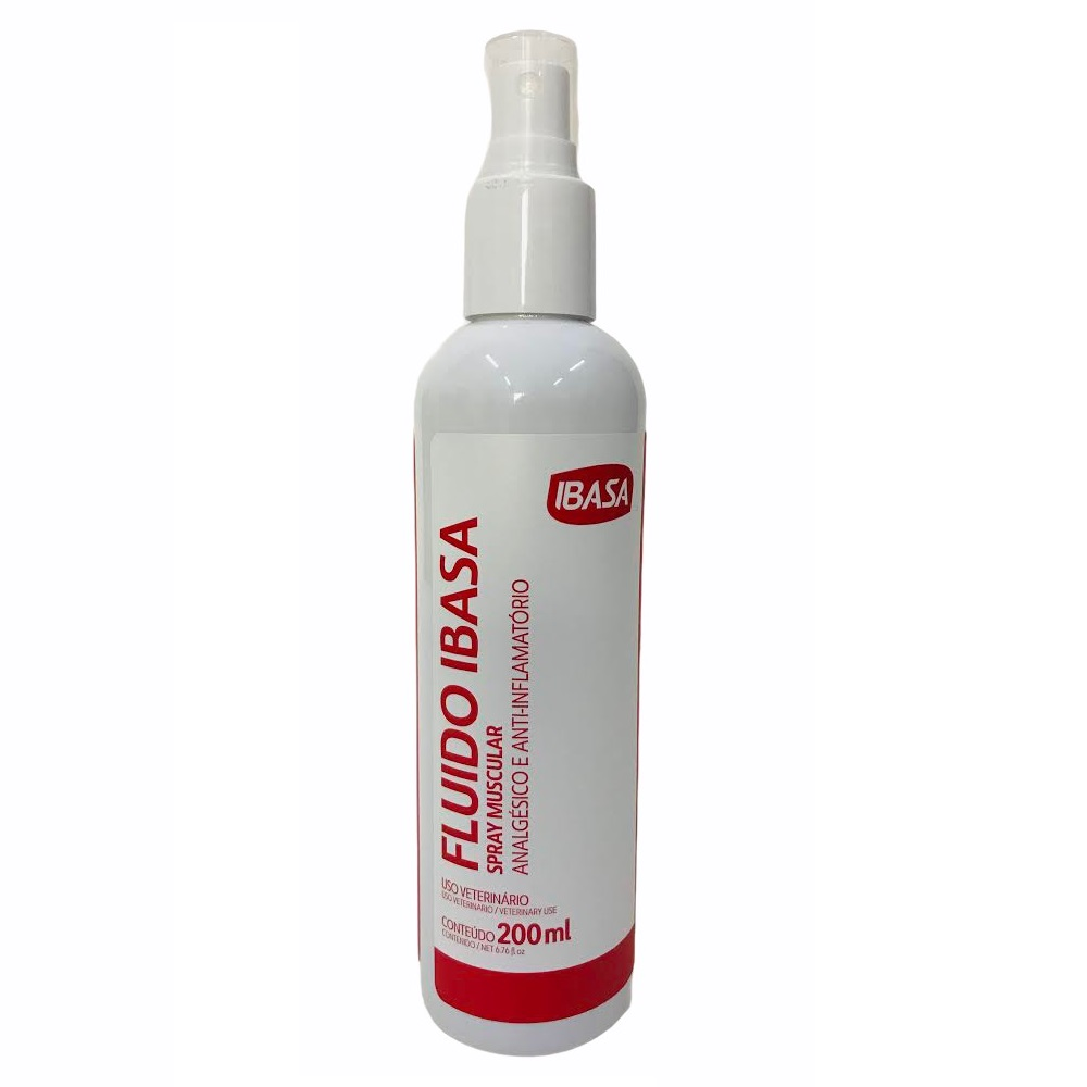 Fluido Spray Muscular para Dores 200ml - Ibasa