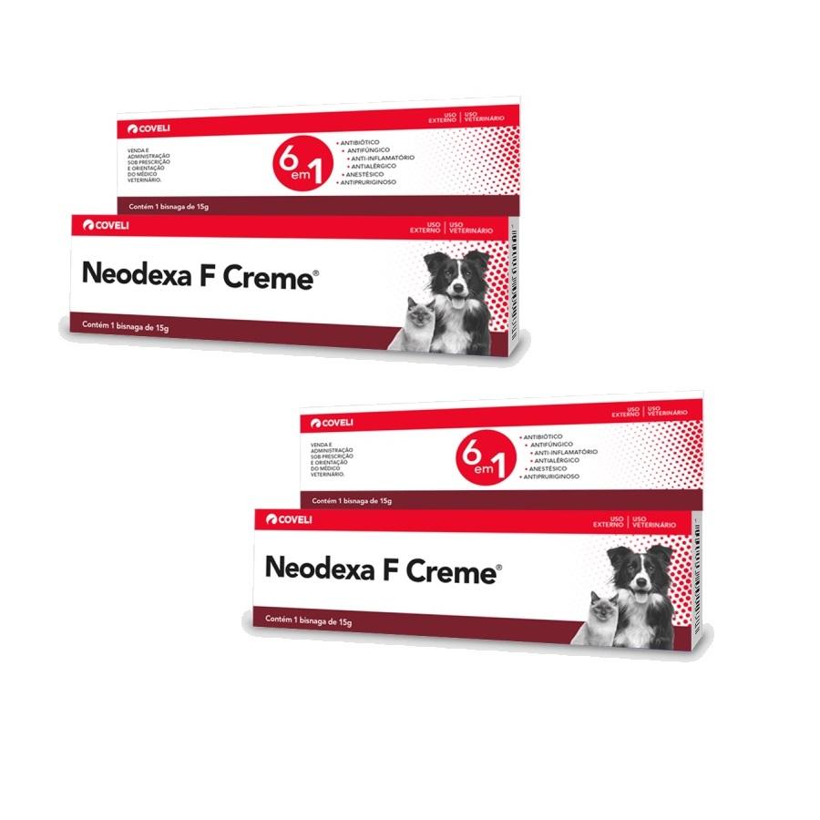 Kit 2 Unidades Antibiótico Neodexa F Creme 15g - Coveli