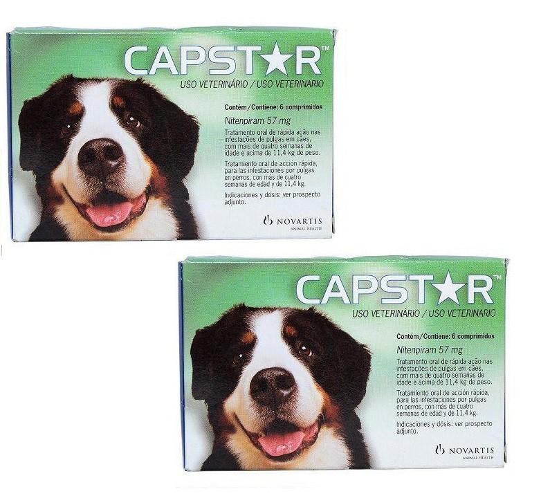 Kit 2 Unidades Antipulgas Capstar para Cães acima de 11kg (6 comprimidos) - Elanco