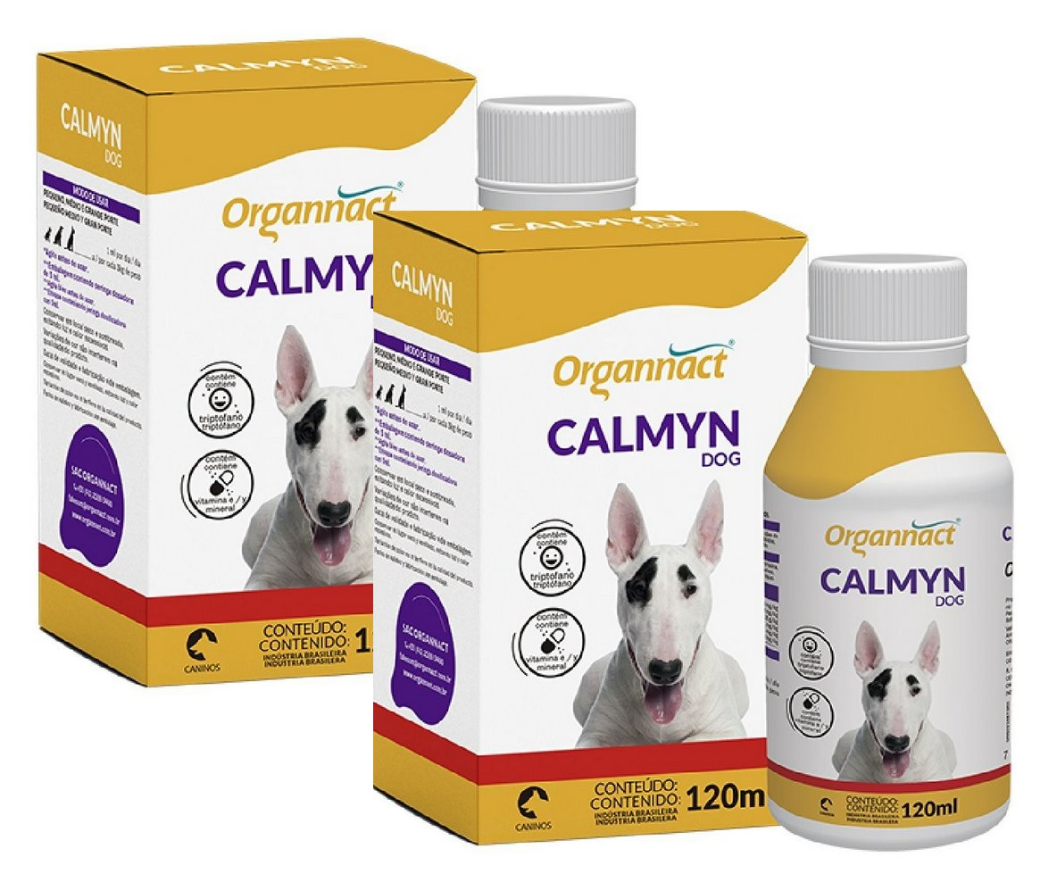 Kit 2 Unidades Calmyn Dog 120ml - Organnact