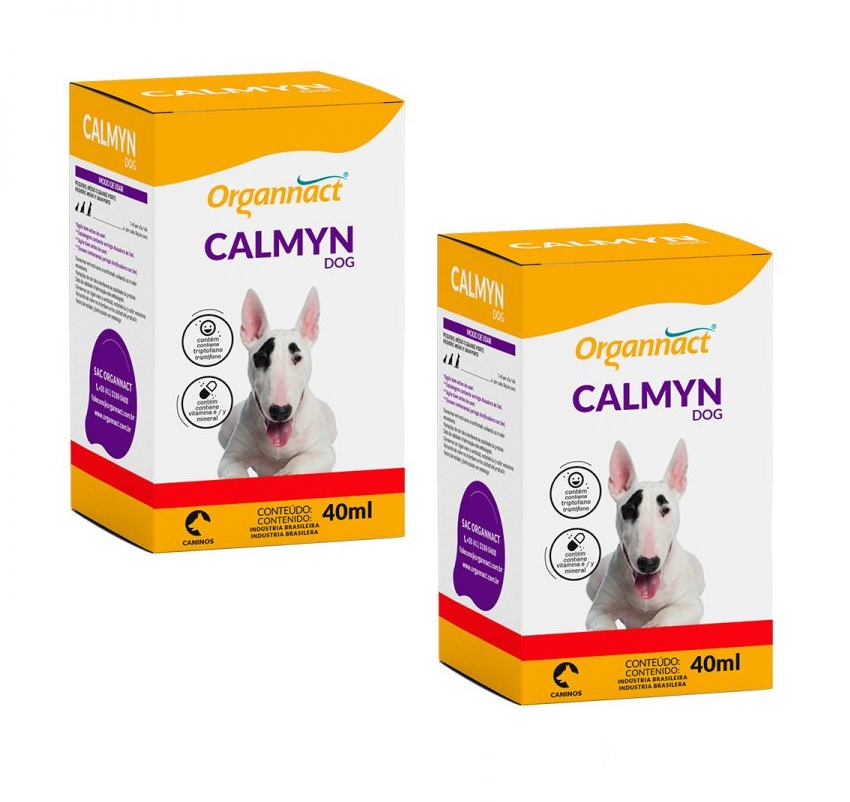 Kit 2 Unidades Calmyn Dog 40ml - Organnact