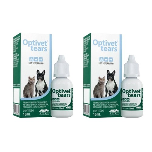 Kit 2 Unidades Colírio Optivet Tears 10ml - Vetnil
