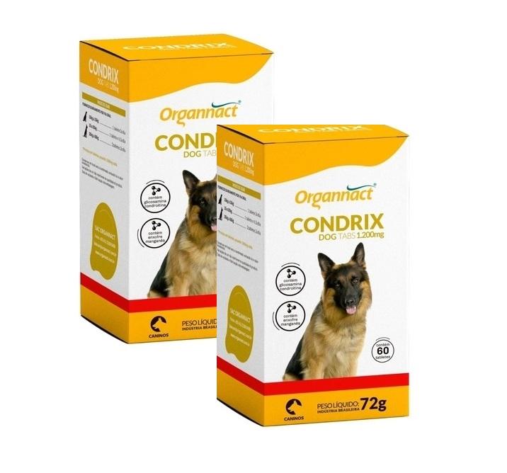 Kit 2 Unidades Condrix Dog Tabs 1200mg (72g) - Organnact