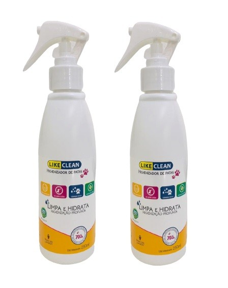 Kit 2 Unidades Higienizador de Patas Like Clean 250ml - Like Pet