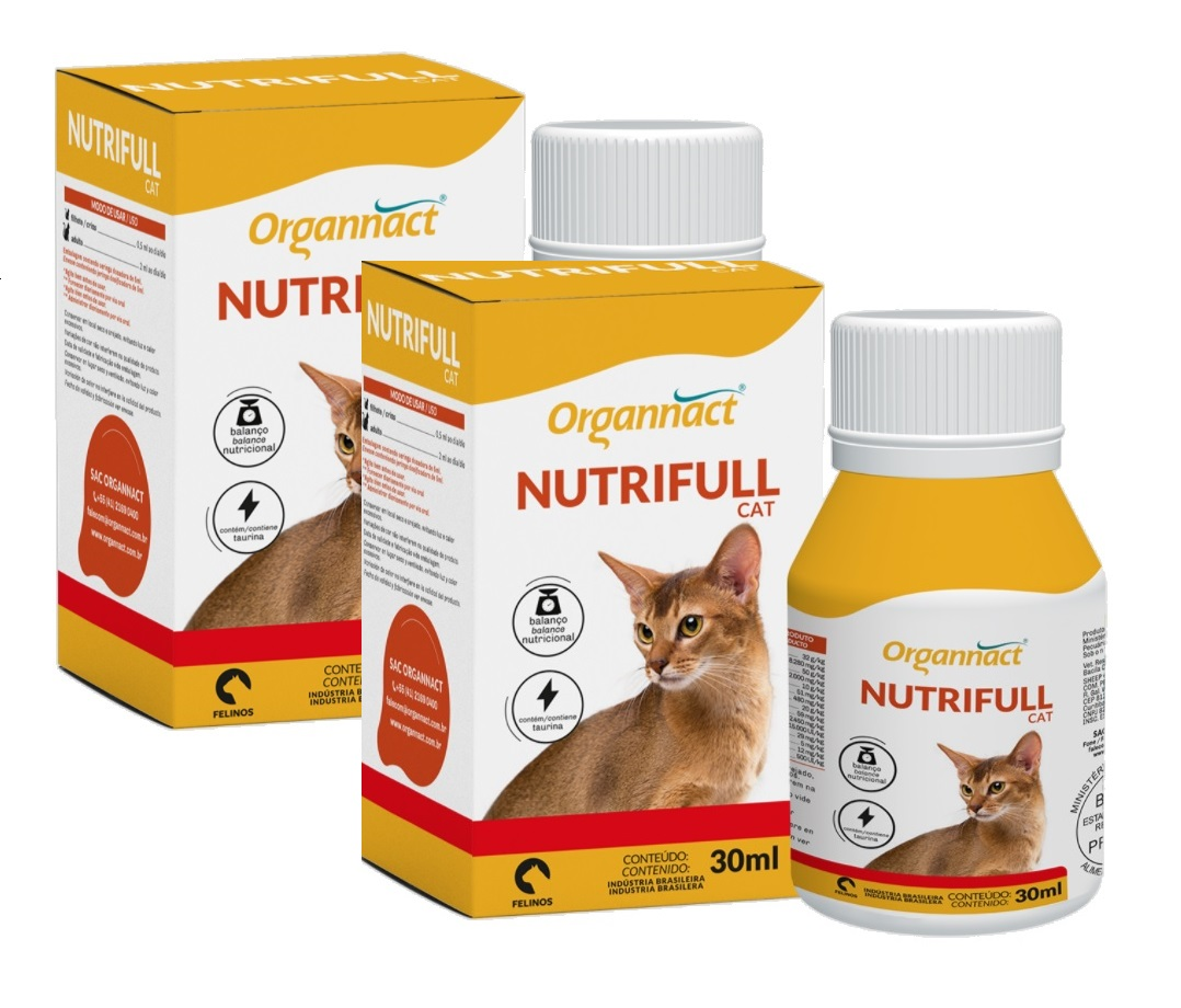 Kit 2 Unidades Nutrifull Cat 30ml - Organnact