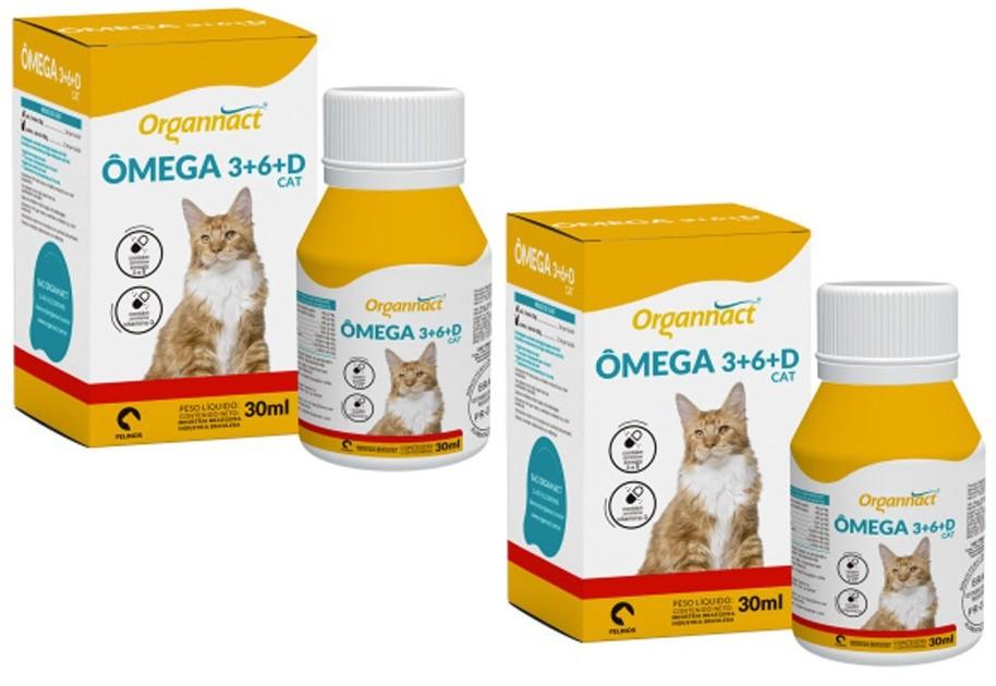 Kit 2 Unidades Ômega 3+6+D Cat 30ml - Organnact