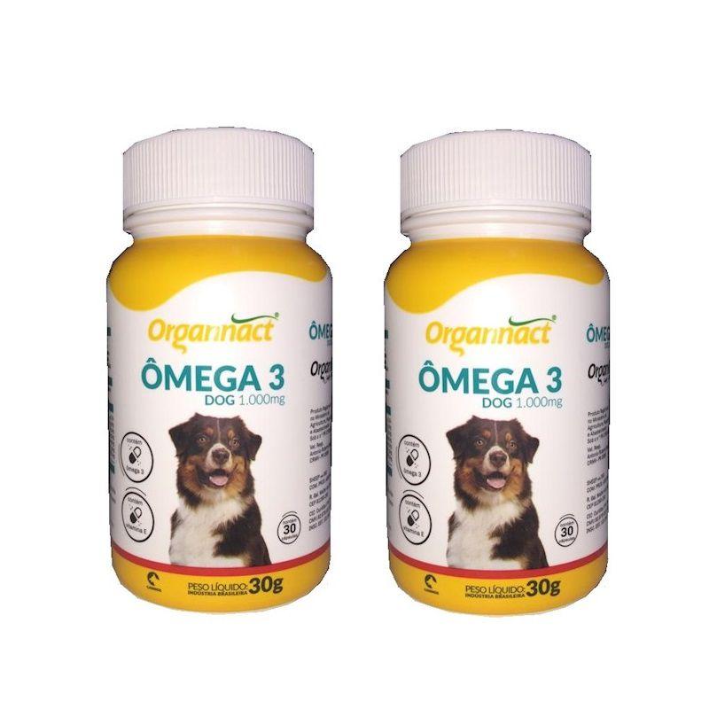 Kit 2 Unidades Omega 3 Dog 1000mg - Organnact