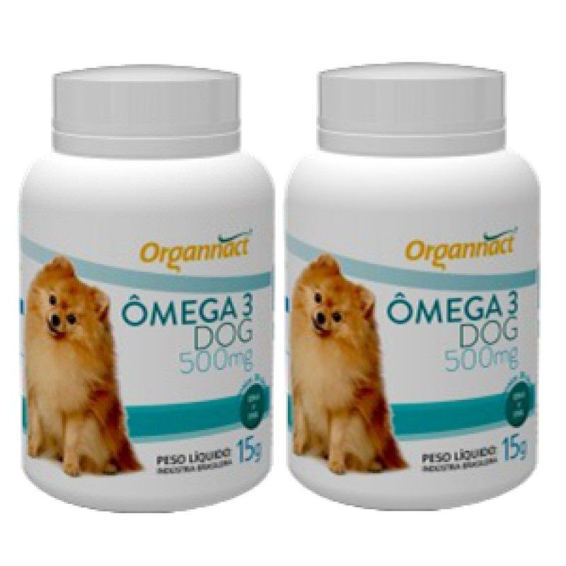 Kit 2 Unidades Omega 3 Dog 500mg - Organnact
