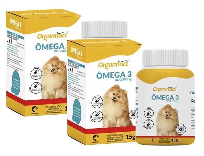Kit 2 Unidades Omega 3 Dog 500mg - Organnact
