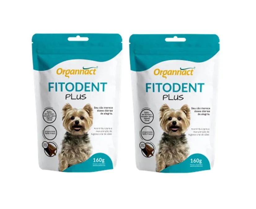Kit 2 Unidades Palito Fitoterápico para Higiene Oral Fitodent Plus 160g - Organnact