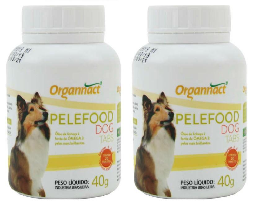 Kit 2 Unidades Pelefood Dog 40g (20 Tabletes) - Organnact