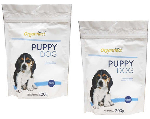 Kit 2 Unidades Suplemento Alimentar para Cães Filhotes Puppy Dog 200g - Organnact