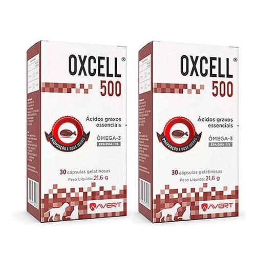 Kit 2 Unidades Suplemento para Cães e Gatos Oxcell 500 - Avert