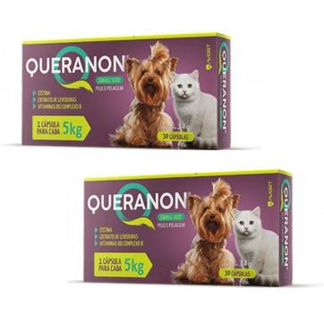 Kit 2 Unidades Suplemento para Cães e Gatos Pequenos Queranon 5kg (30 cápsulas) - Avert