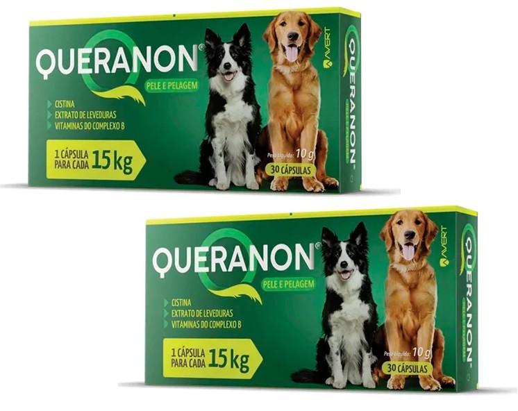Kit 2 Unidades Suplemento para Cães Queranon 15kg (30 cápsulas) - Avert
