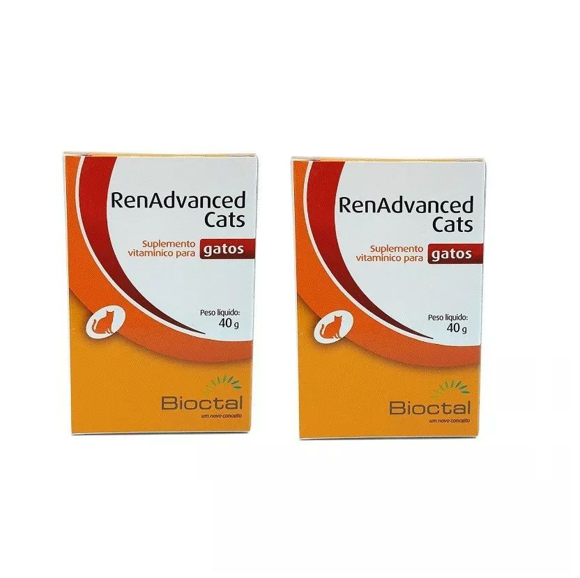 Kit 2 Unidades Renadvanced Cats 40g - Bioctal