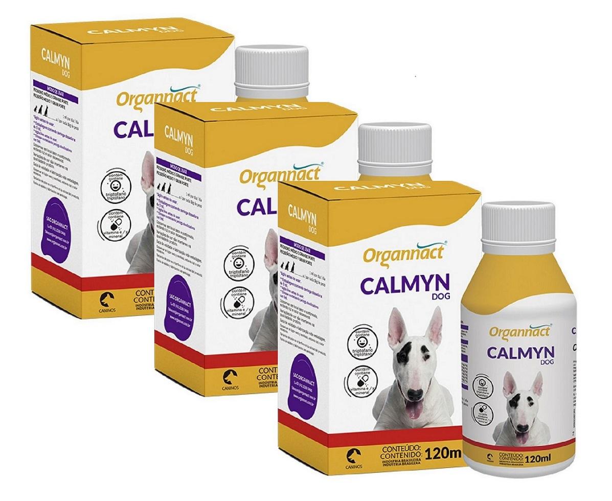 Kit 3 Unidades Calmyn Dog 120ml - Organnact