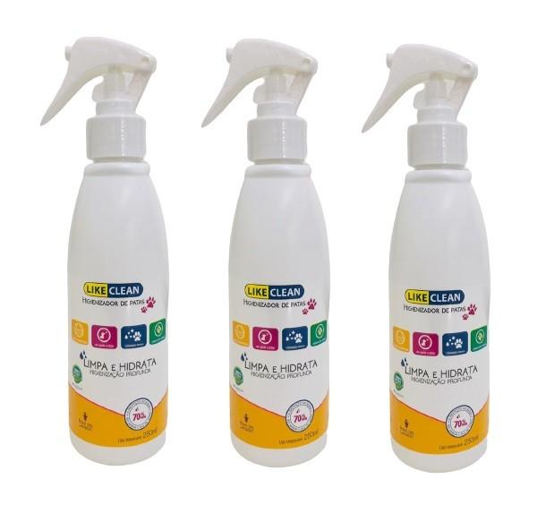 Kit 3 Unidades Higienizador de Patas Like Clean 250ml - Like Pet
