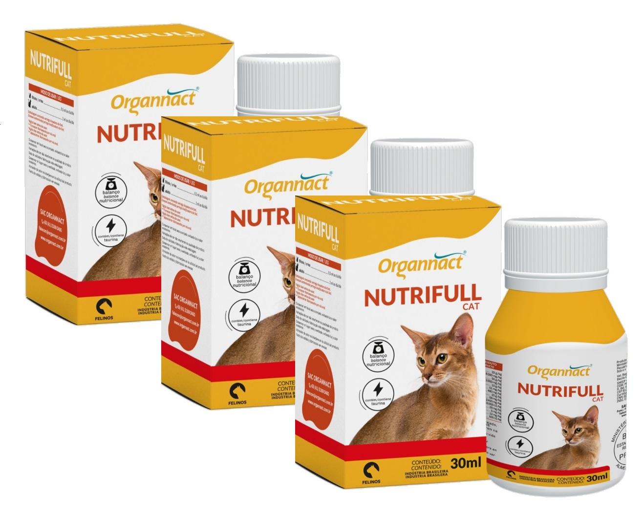 Kit 3 Unidades Nutrifull Cat 30ml - Organnact