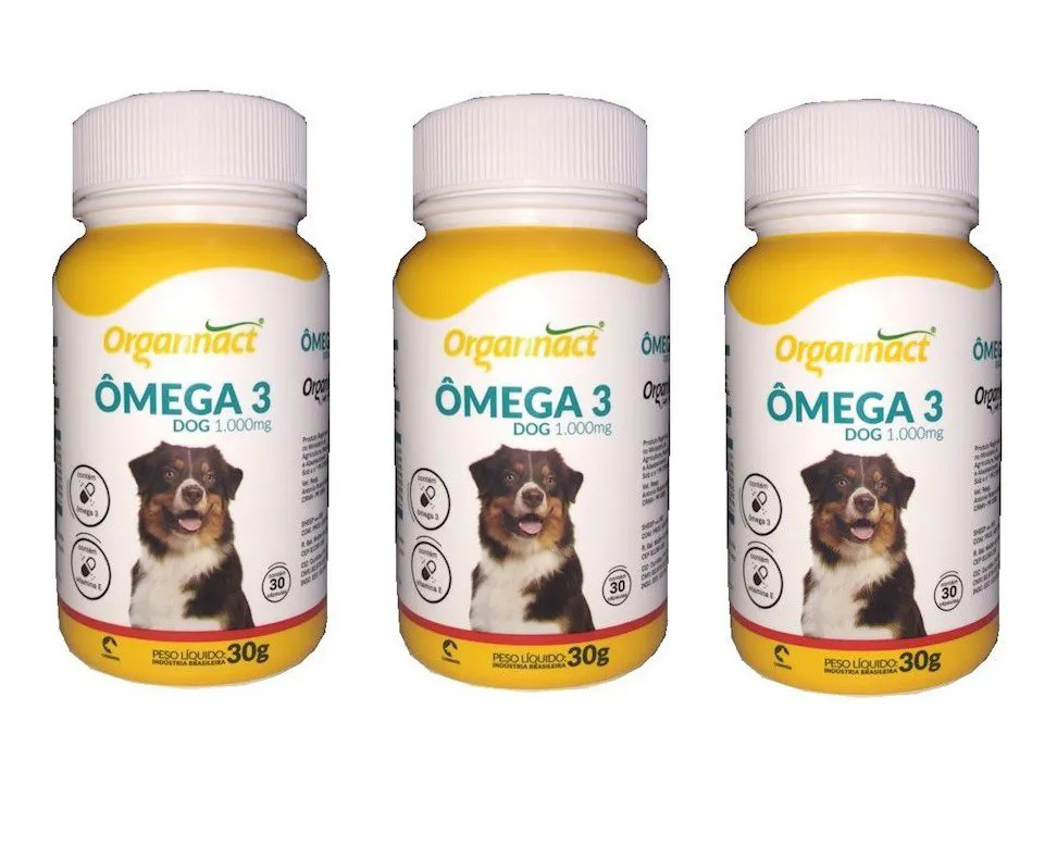 Kit 3 Unidades Omega 3 Dog 1000mg - Organnact