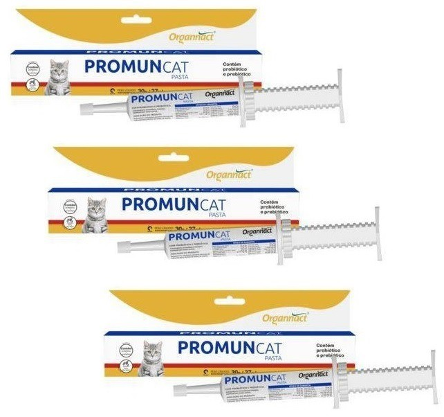 Kit 3 Unidades Promun Cat Pasta 30g - Organnact