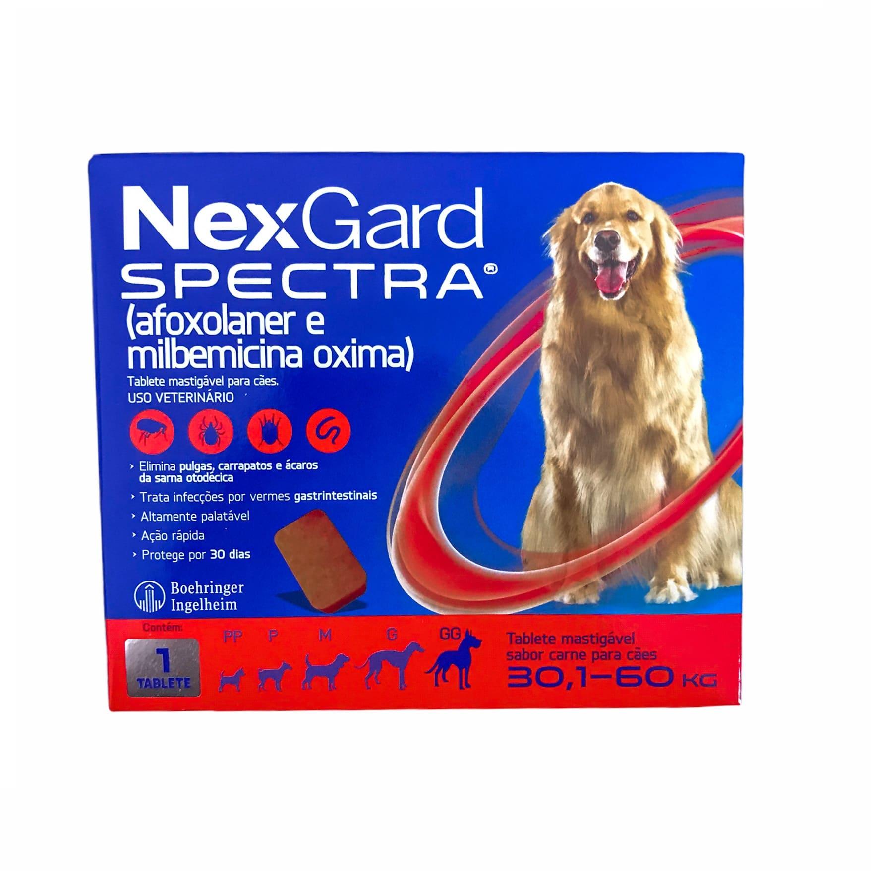 Nexgard Spectra para Cães de 30,1 a 60kg - Boehringer Ingelheim