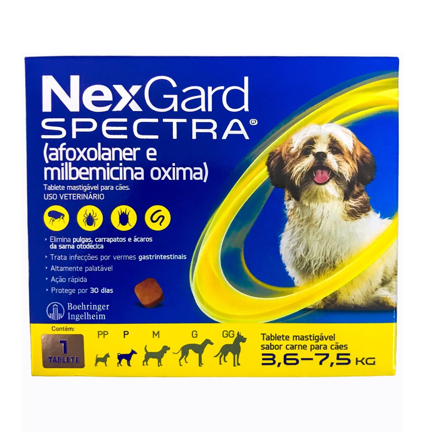 Nexgard Spectra para Cães de 3,6 a 7,5kg - Boehringer Ingelheim