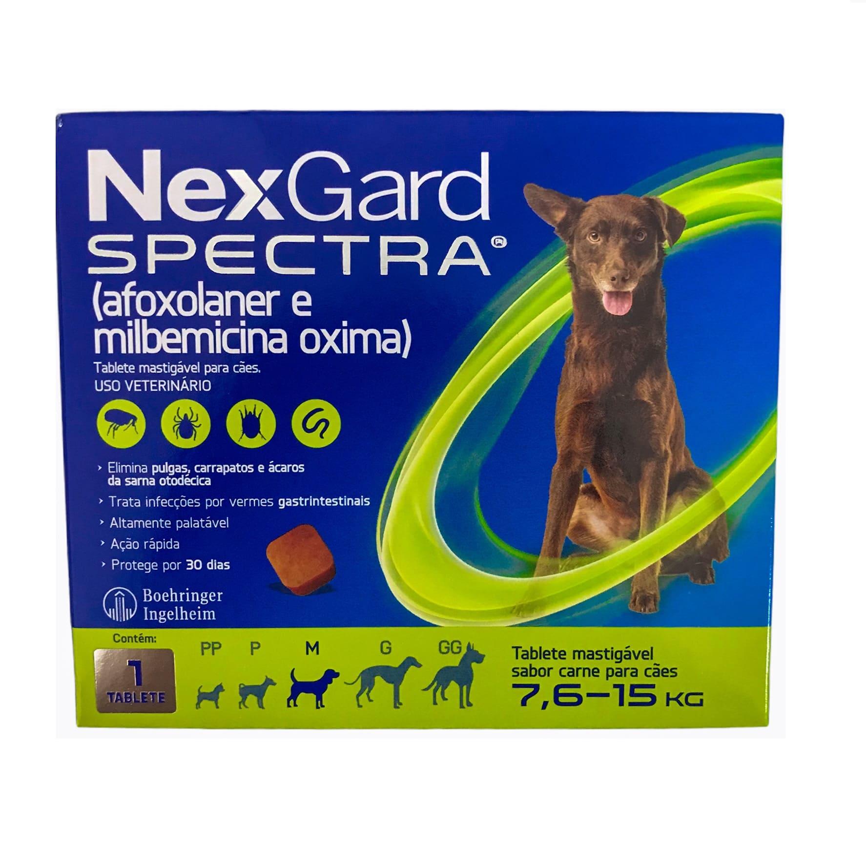 Nexgard Spectra para Cães de 7,6 a 15kg - Boehringer Ingelheim