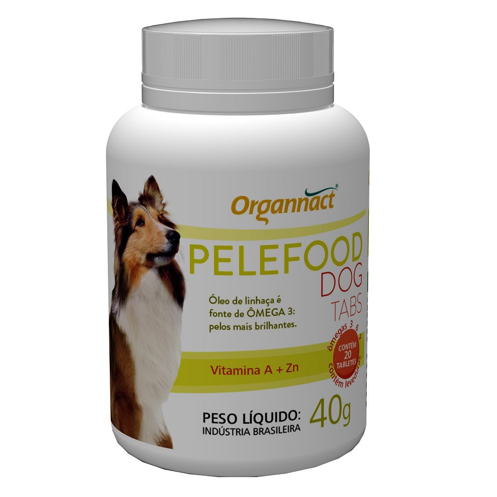 Pelefood Dog 40g (20 Tabletes) - Organnact