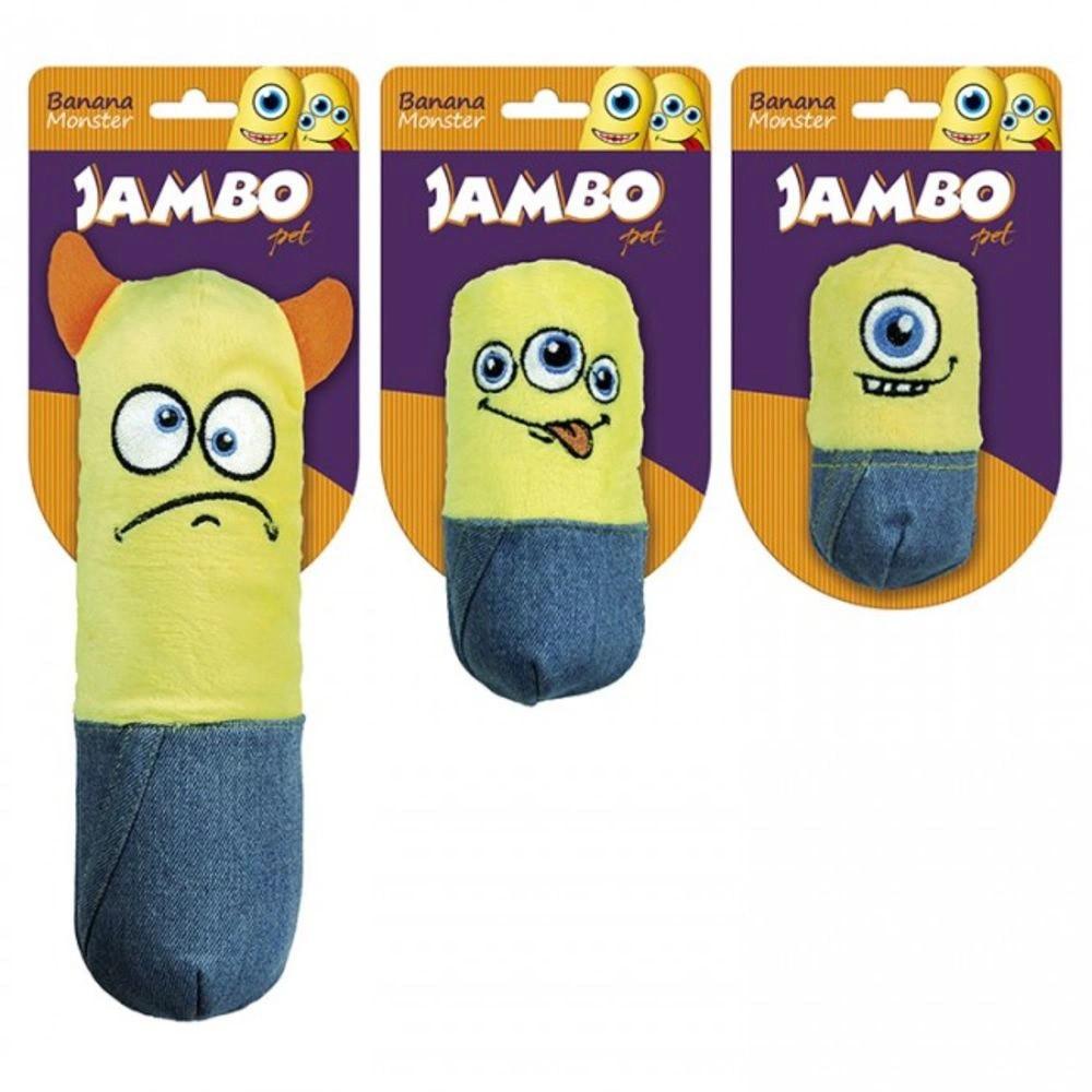 Mordedor Pelúicia Banana Monster de poliéster e plástico - Jambo