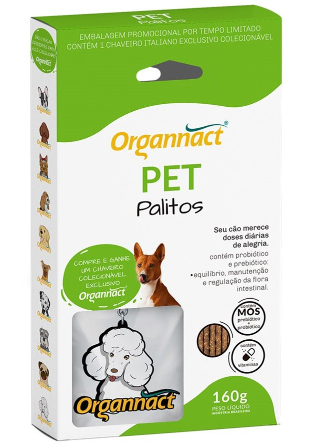 Pet Palitos 160g - Organnact