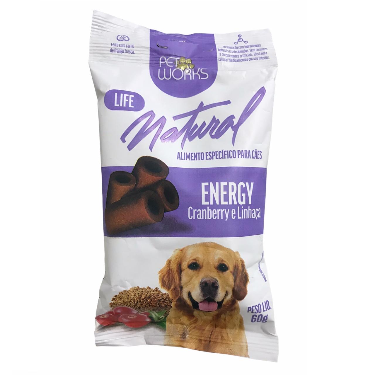 Petisco para Cães Life Natural Energy 60g - Pet Works