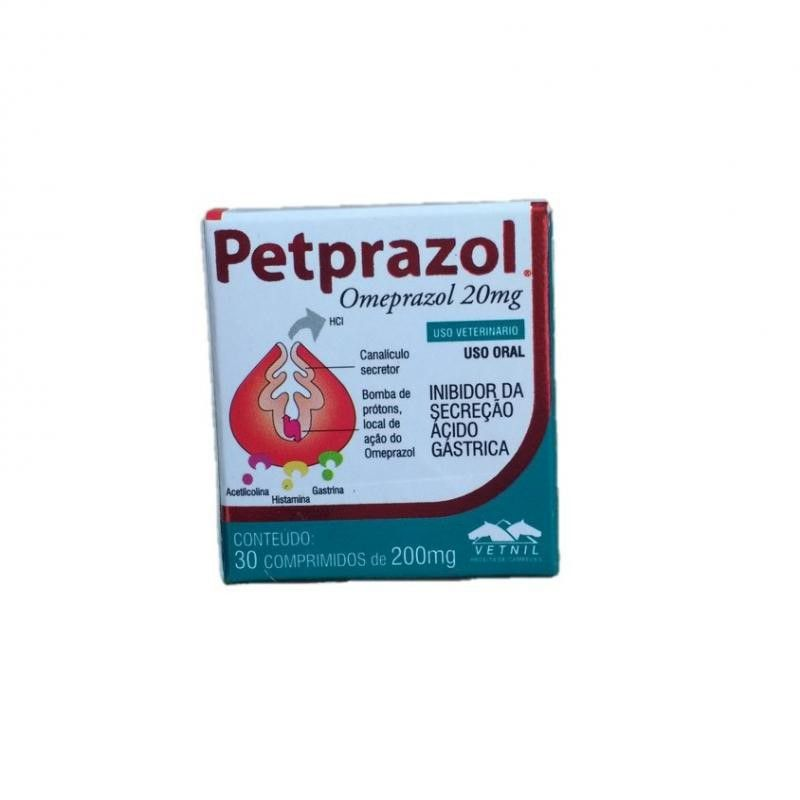 Petprazol 20mg (30 Comprimidos) - Vetnil