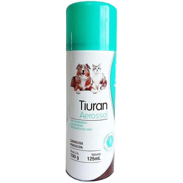 Sarnicida e Fungicida para Cães e Gatos Tiuran Aerossol 125ml - Duprat