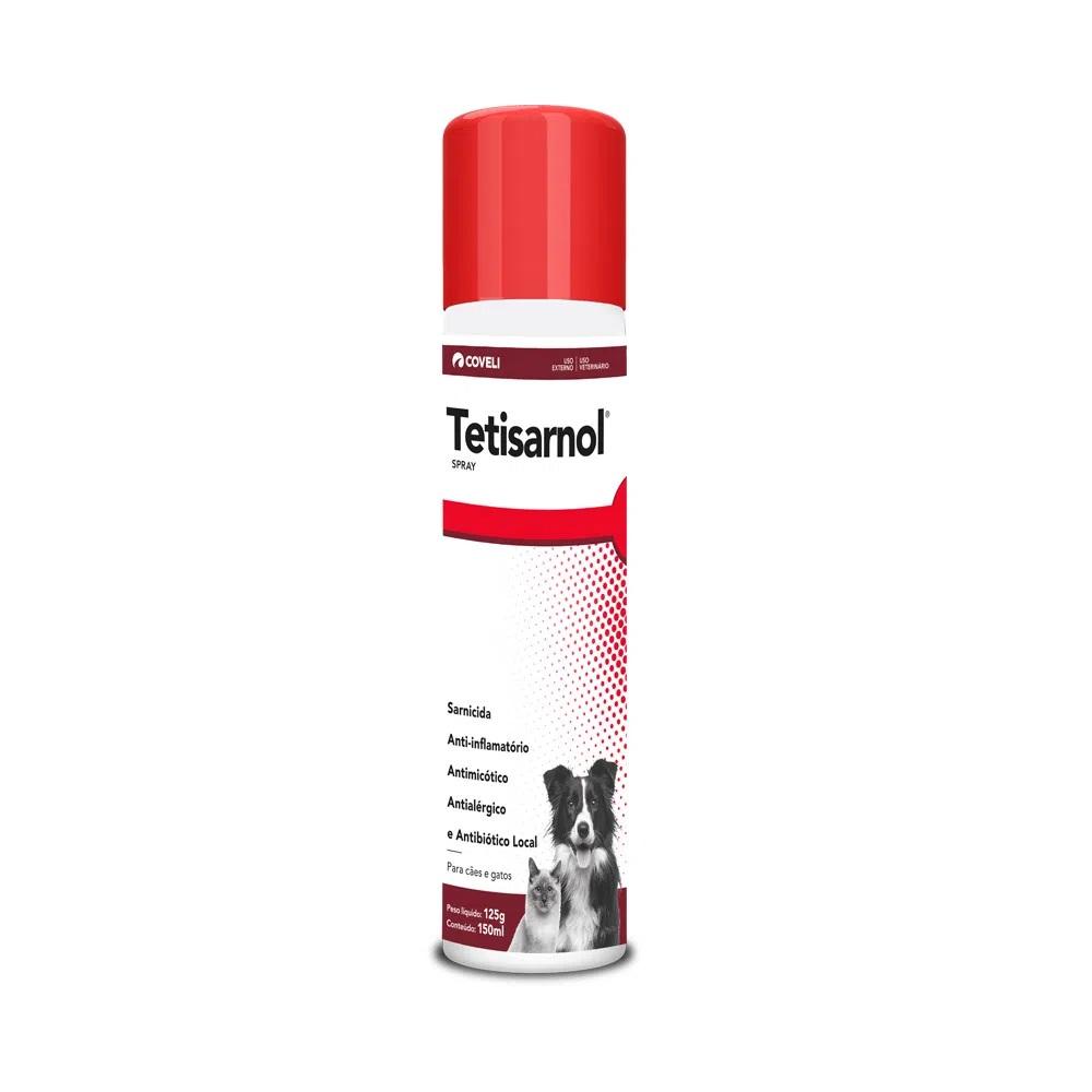 Sarnicida para Cães e Gatos Tetisarnol Spray 125g / 150ml - Coveli