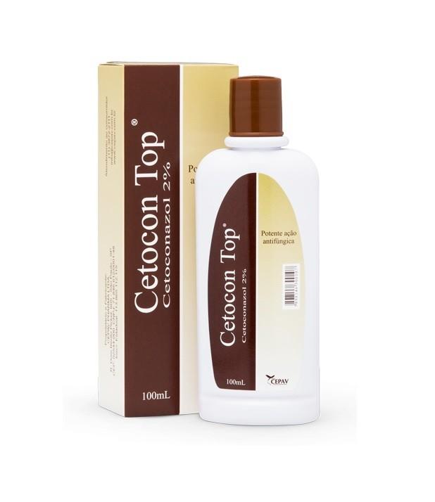 Shampoo Antifúngico para Cães e Gatos Cetocon Top 2% 100ml - CEPAV