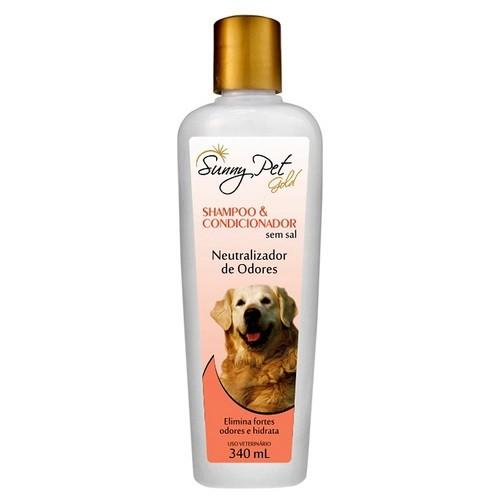 Shampoo e Condicionador Neutralizador de Odores Sem Sal 340ml - Sunny Pet