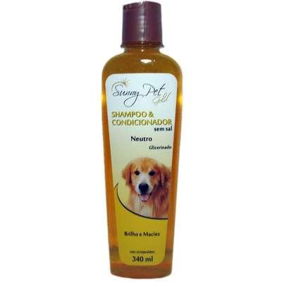Shampoo e Condicionador Neutro Glicerinado Sem Sal 340ml - Sunny Pet